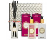 Frangipani & Orange Blossom cloakroom set with hand wash, hand lotion and reed diffuser