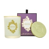 Lilac Rose & Geranium scented candle with gold lid 180g