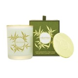 White Grapefruit & May Chang scented candle with gold lid 180g