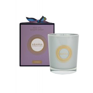 Rose Otto & Burnt Amber natural wax scented candle 180g