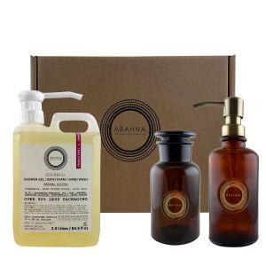 Frangipani & Orange Blossom Shower gel / bath foam / hand wash gift set