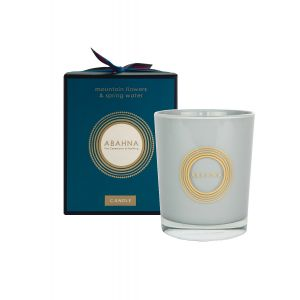 Mountain Flowers & Spring Water natural wax scented candle 180g
