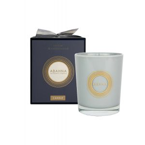 Vetiver & Cedarwood natural wax scented candle 180g