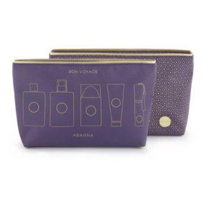 Purple wash bag