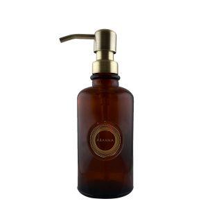 Amber glass dispenser bottle 250ml