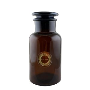 Amber glass decanter 500ml