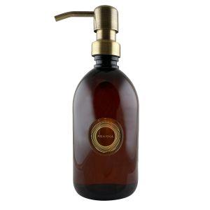 Amber plastic dispenser bottle 500ml