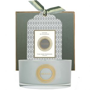 Vetiver & Cedarwood natural wax scented candle 400g