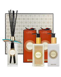 Mandarin & Sicilian Bergamot cloakroom set with hand wash, hand lotion and reed diffuser