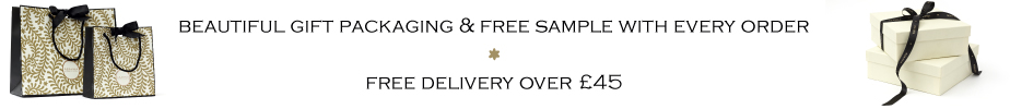 FREE delivery over £45, gift wrap and samples with every order. Sale
